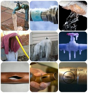 Frozen Pipe collage